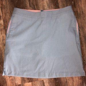 Greg Norman blue white pinstripe golf skort Size 4